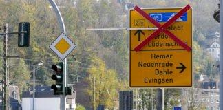 Die Durchfahrt auf der B236 in Altena ist gesperrt.