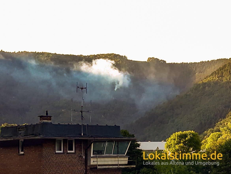 Waldbrand Altena
