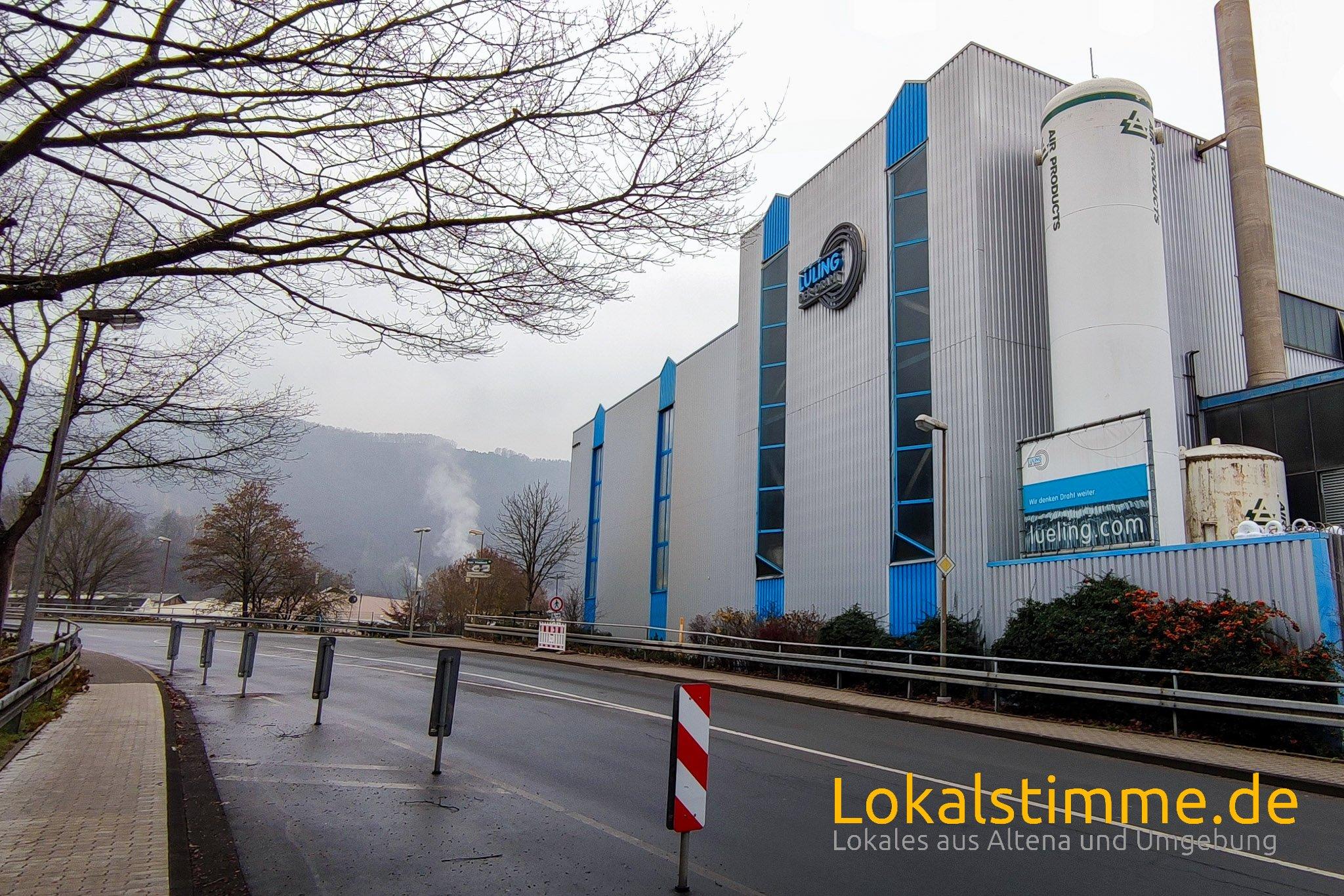 Der Wasserstoffbehälter wird demontiert. Dafür muss die Linscheidstraße in Altena voll gesperrt werden.