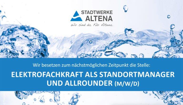 Elektrofachkraft als Standortmanager und Allrounder (M/W/D)